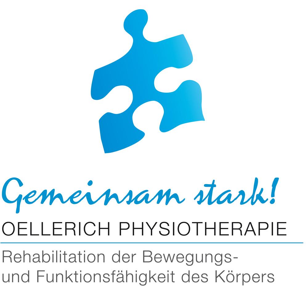 blaues Puzzleteil: Gemeinsam stark! Oellerich Physiotherapie