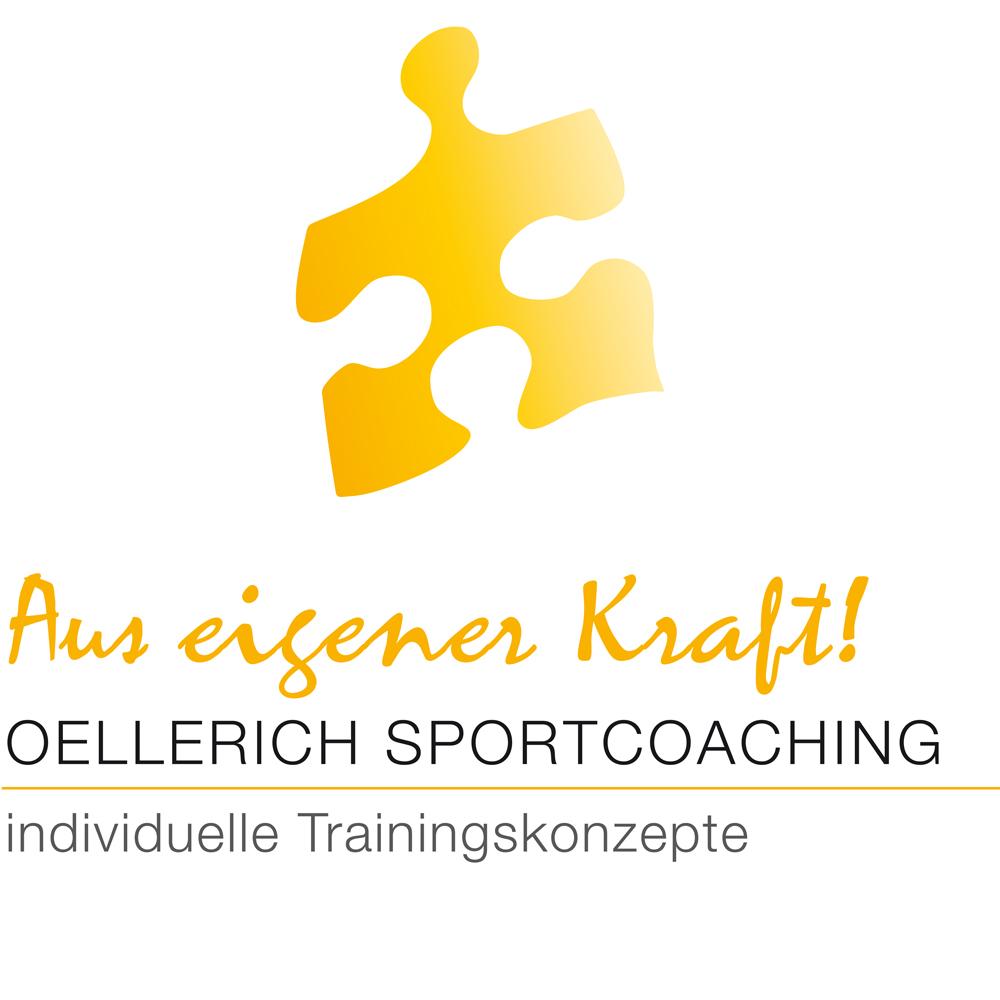 gelbes Puzzleteil: Aus eigener Kraft! Oellerich Sportcoaching