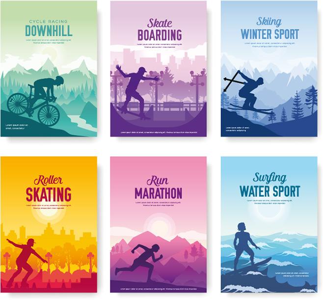 Grafik mit verschiedenen Sportarten
